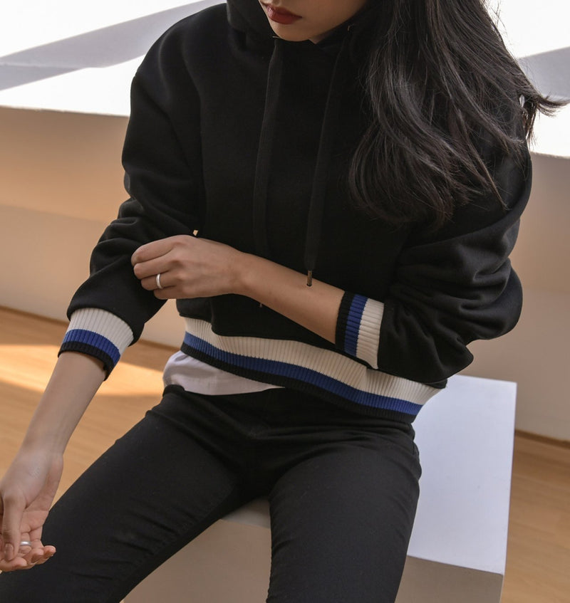HOODIE WITH STRIPE DETAIL