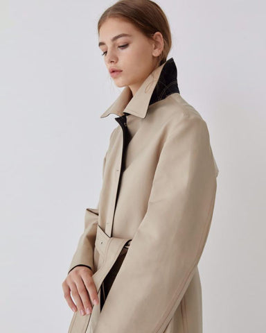 LUXE CONTRAST TRENCH COAT