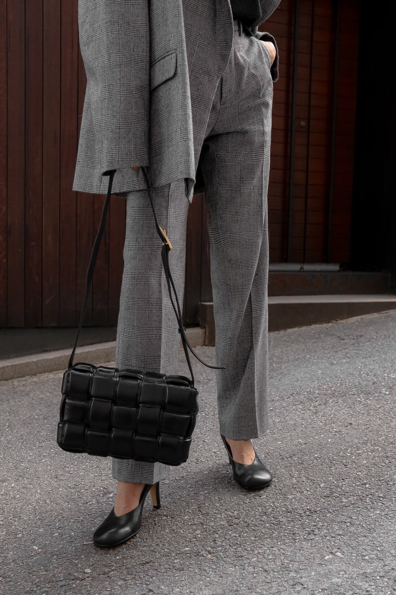 WIDE FIT HOUNDSTOOTH TROUSERS