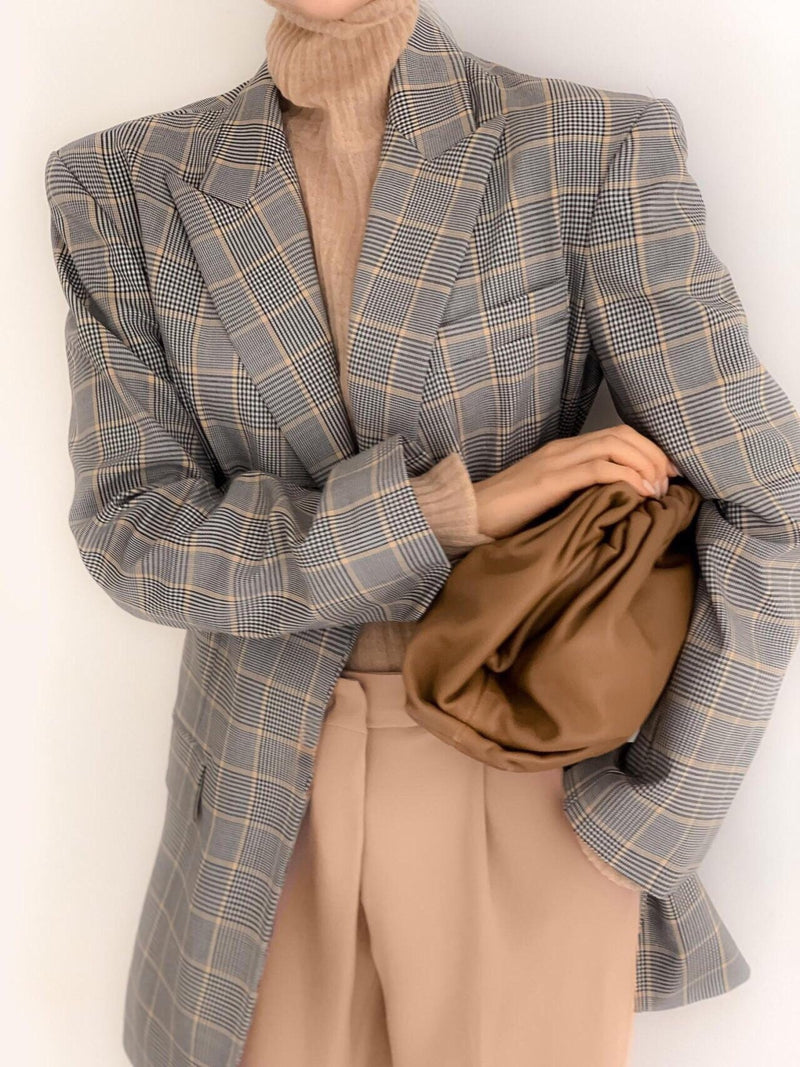 TAILORED GLEN CHECK JACKET