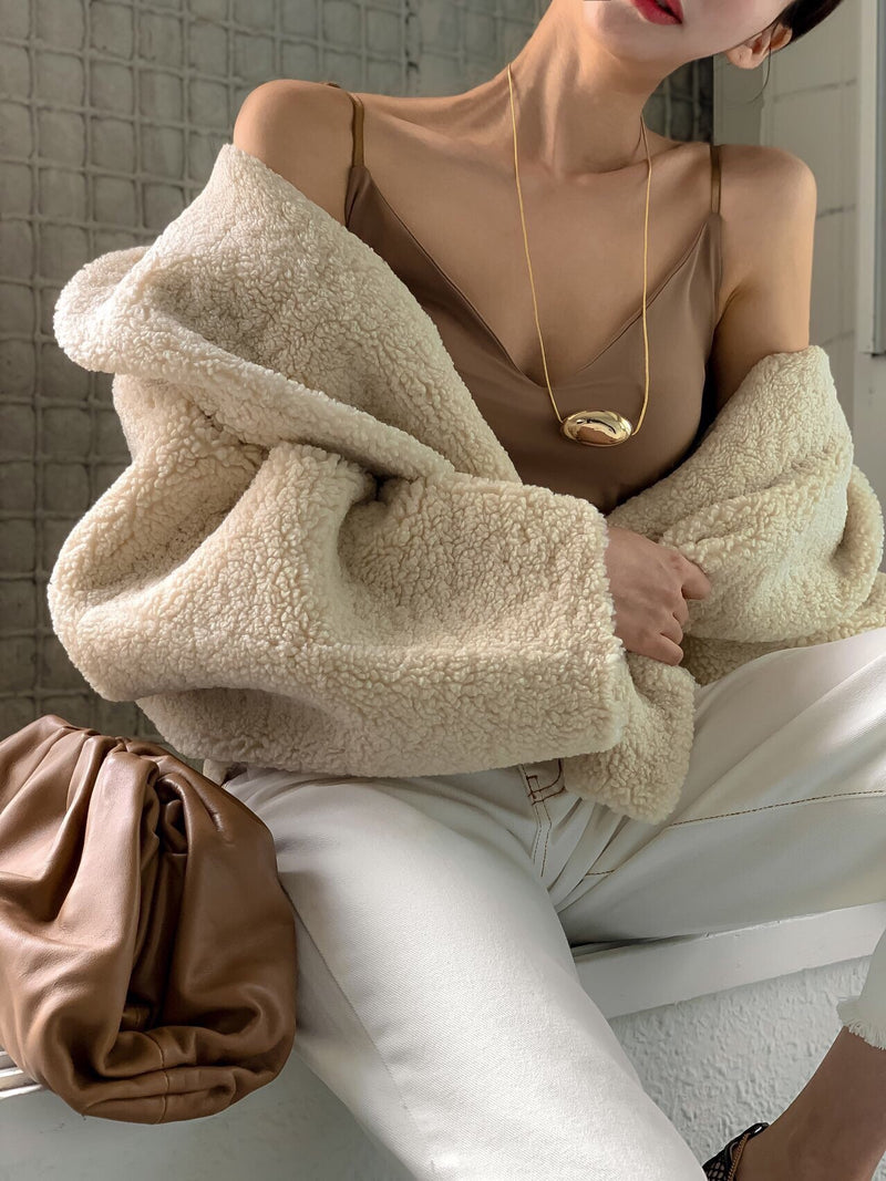 LUXE COCOON SHEARLING COAT