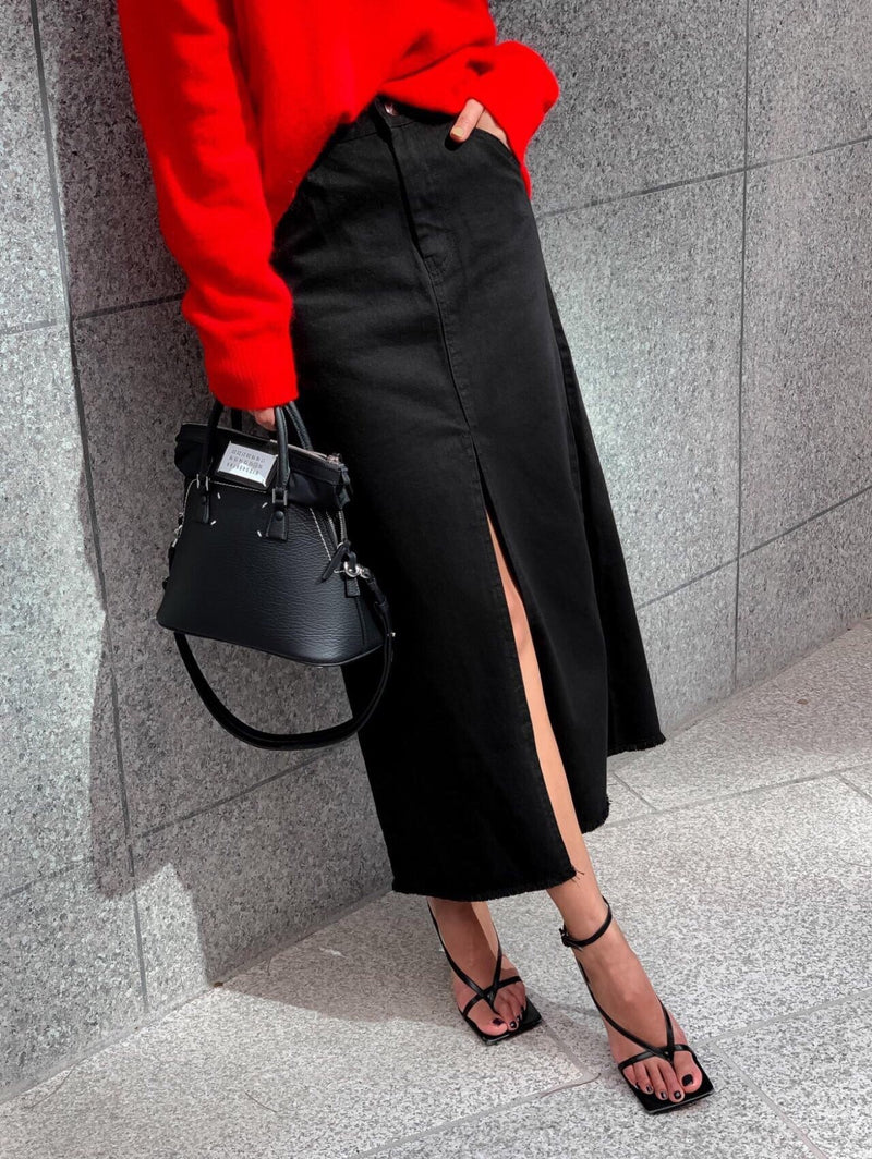 CLASSIC DENIM MAXI SKIRT