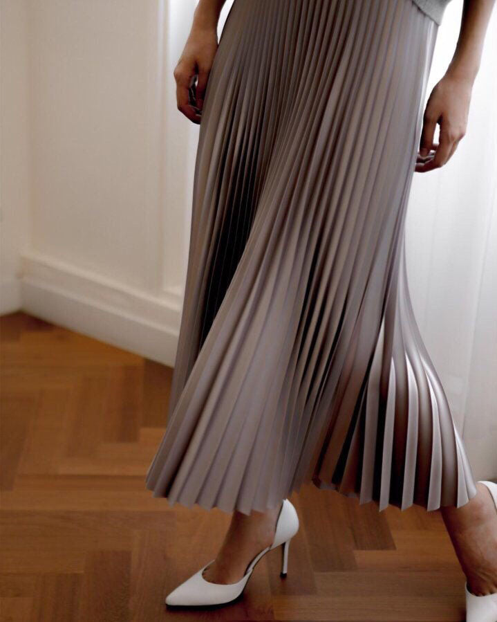 METALLIC PLEATED SKIRT #2