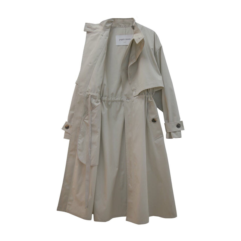 DOUBLE LAYERED OVERSIZED TRENCH COAT