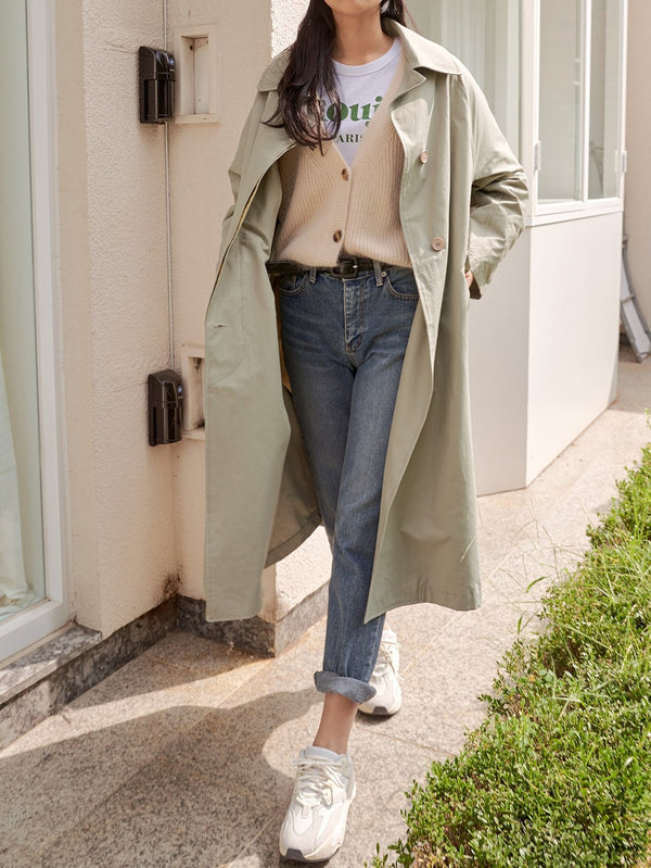 MIDI COTTON TRENCH COAT