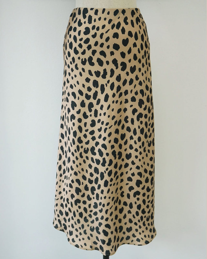 [SPECIAL PRICE] SATIN LEOPARD SKIRT