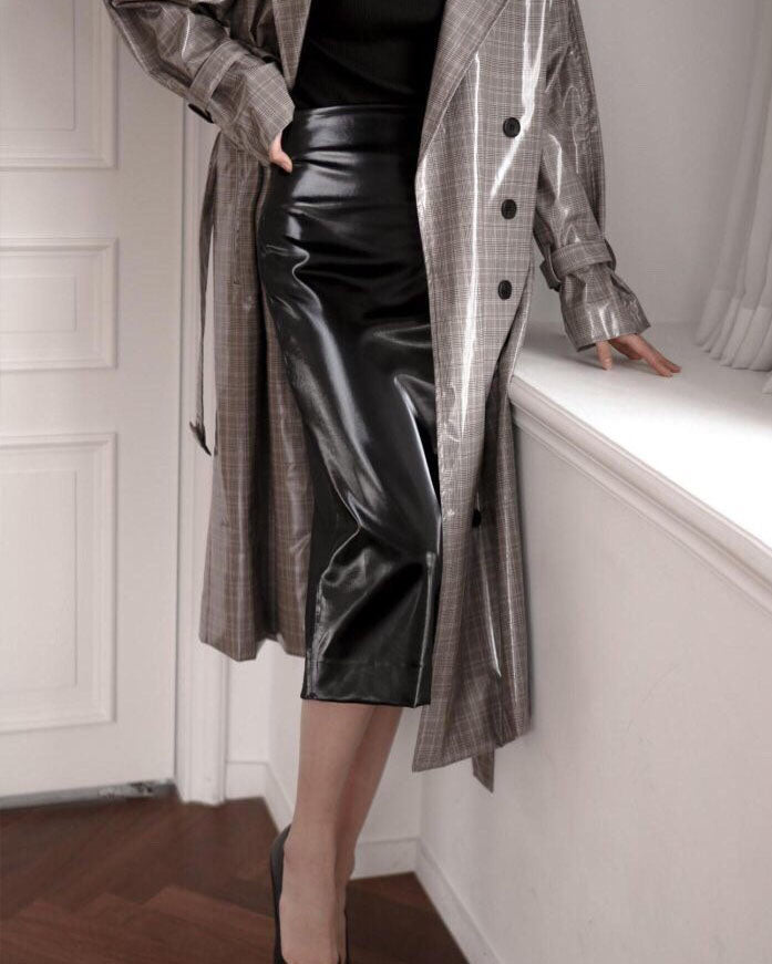 [SPECIAL PRICE] PATENT LEATHER PENCIL SKIRT