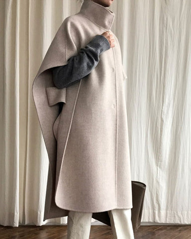 LUXE HANDMADE CAPE COAT
