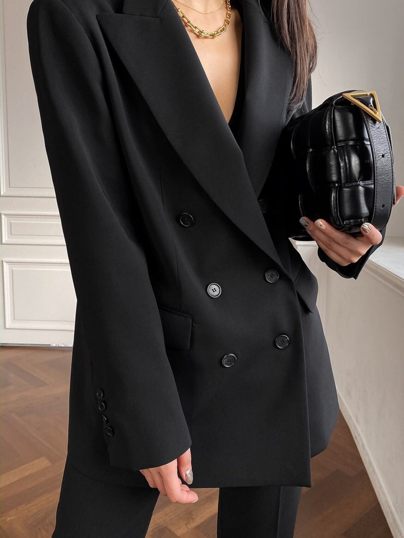 DOUBLE BREASTED SUIT BLAZER