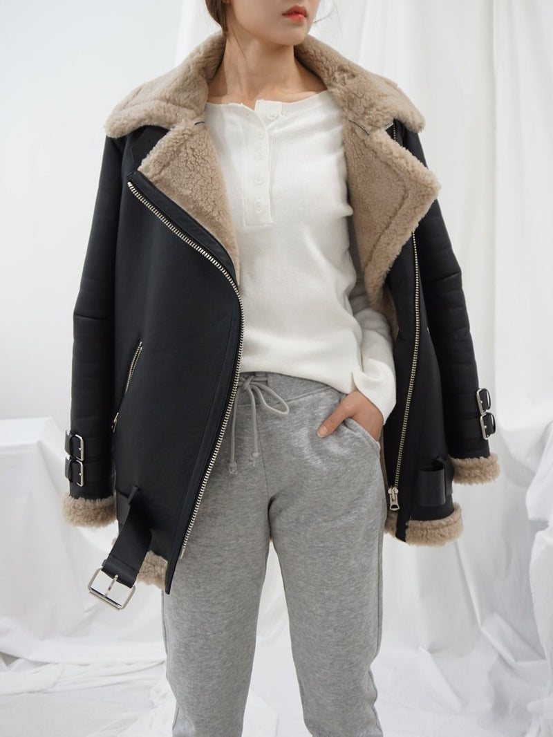 FAUX FUR LINED JACKET