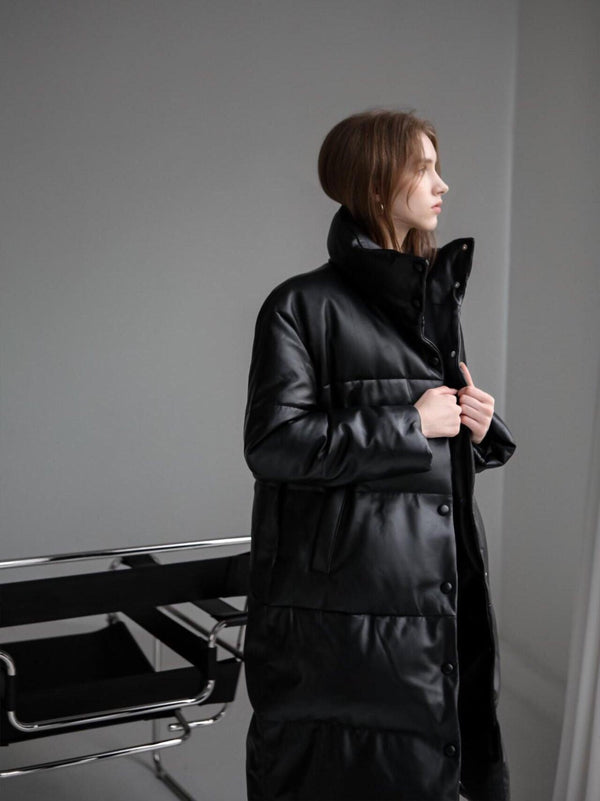 LUXE LAMBSKIN PADDED COAT