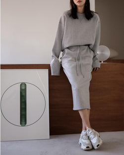 SET UP SWEAT SKIRT - 3 COLORS