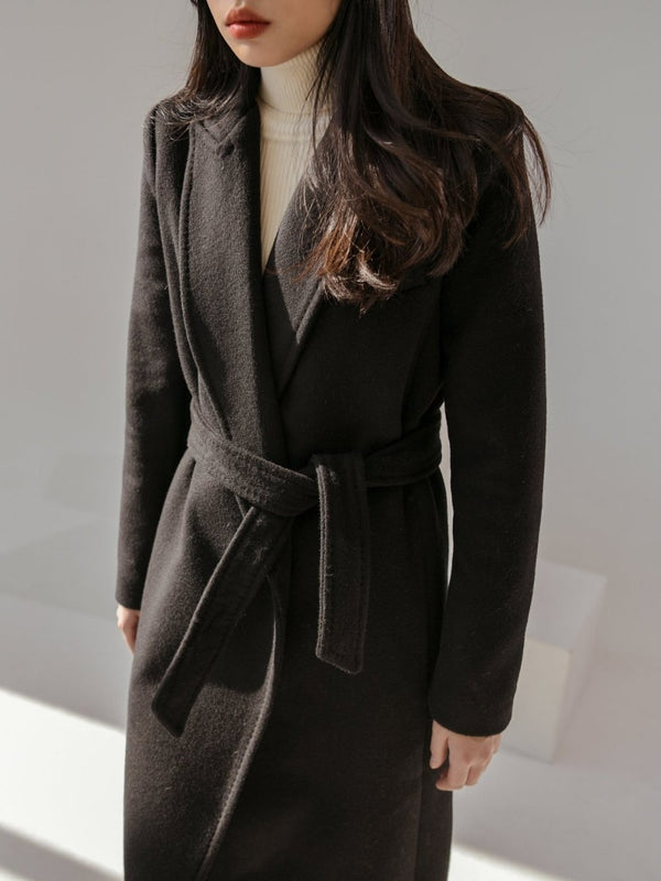 CLASSIC MIDI COAT WITH BELT