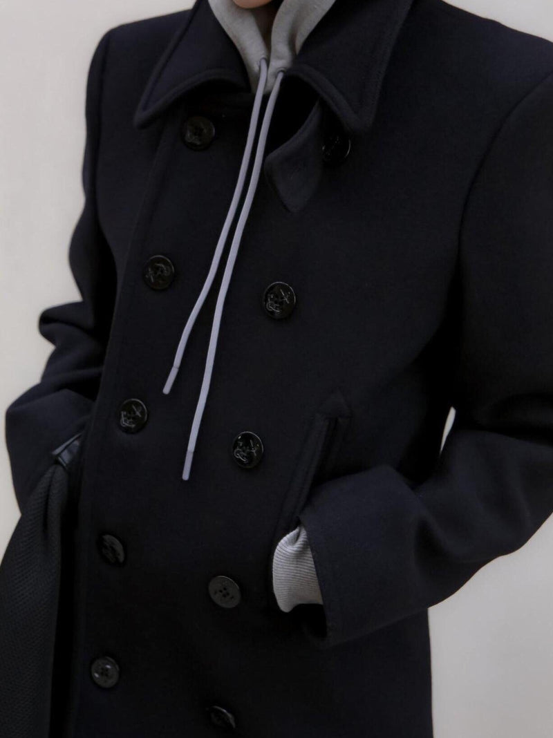 DOUBLE BREASTED HIGH NECK COAT