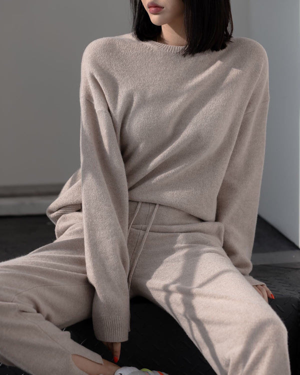 [SPECIAL PRICE] CASHMERE ROUND NECK SWEATER