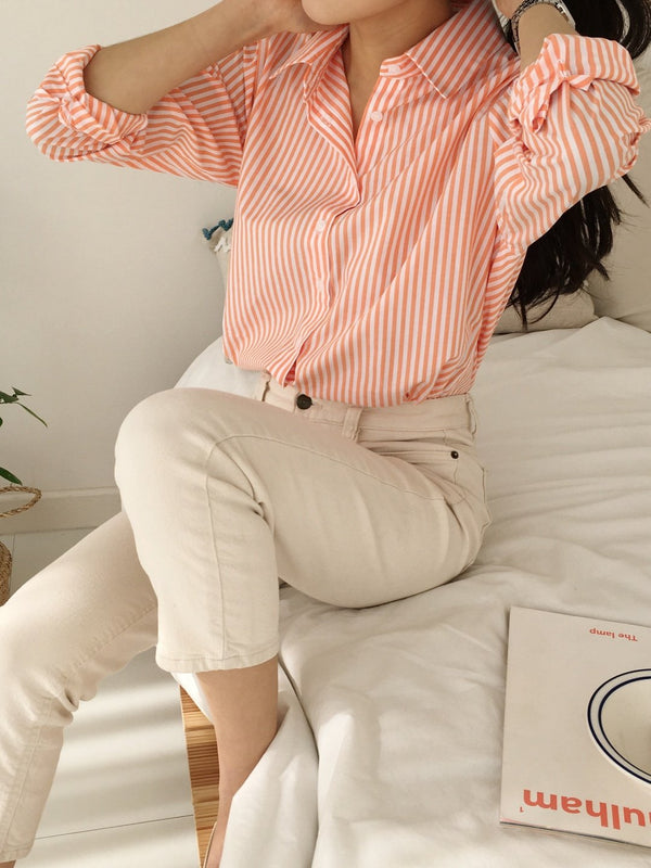 CLASSIC STRIPED SHIRT - 5 COLORS