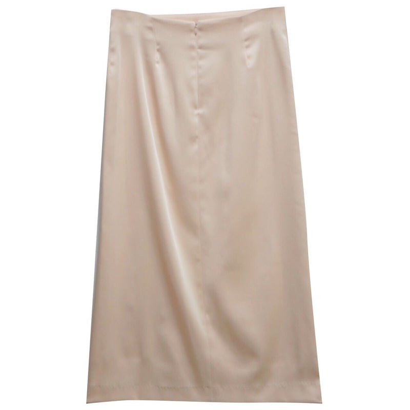 SATIN PENCIL SKIRT WITH SLIT