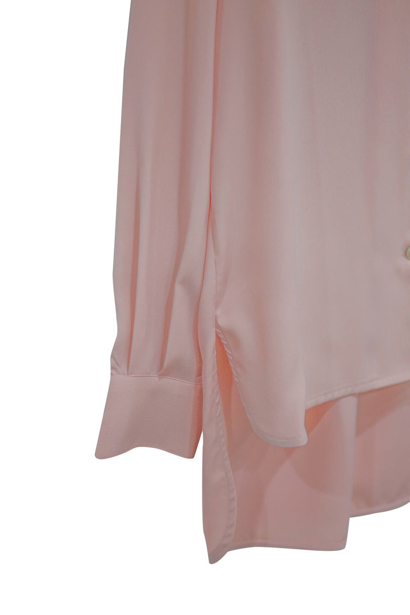 POCKET DETAIL UNBALANCED BLOUSE
