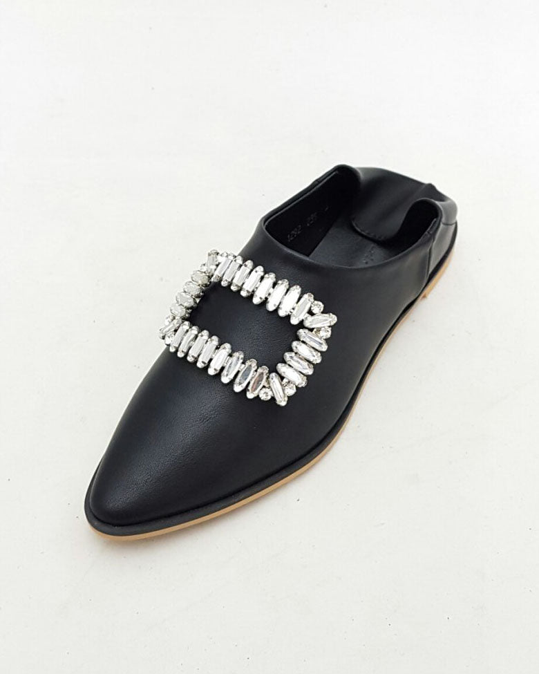 EMBELLISHED FOLD OVER MULE