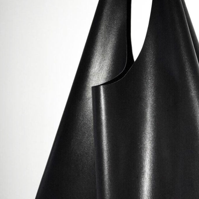 MINIMAL LEATHER SHOPPER - 2 COLORS