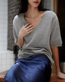 LUXE CASHMERE V-NECK KNIT