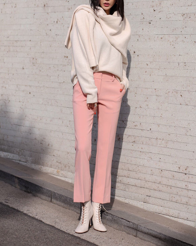 SLIT FLARED PANTS