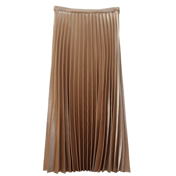LUXE SILK PLEATED SKIRT