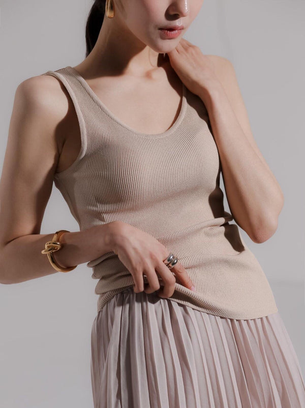 CLASSIC RIBBED KNIT TANK - 5 COLORS
