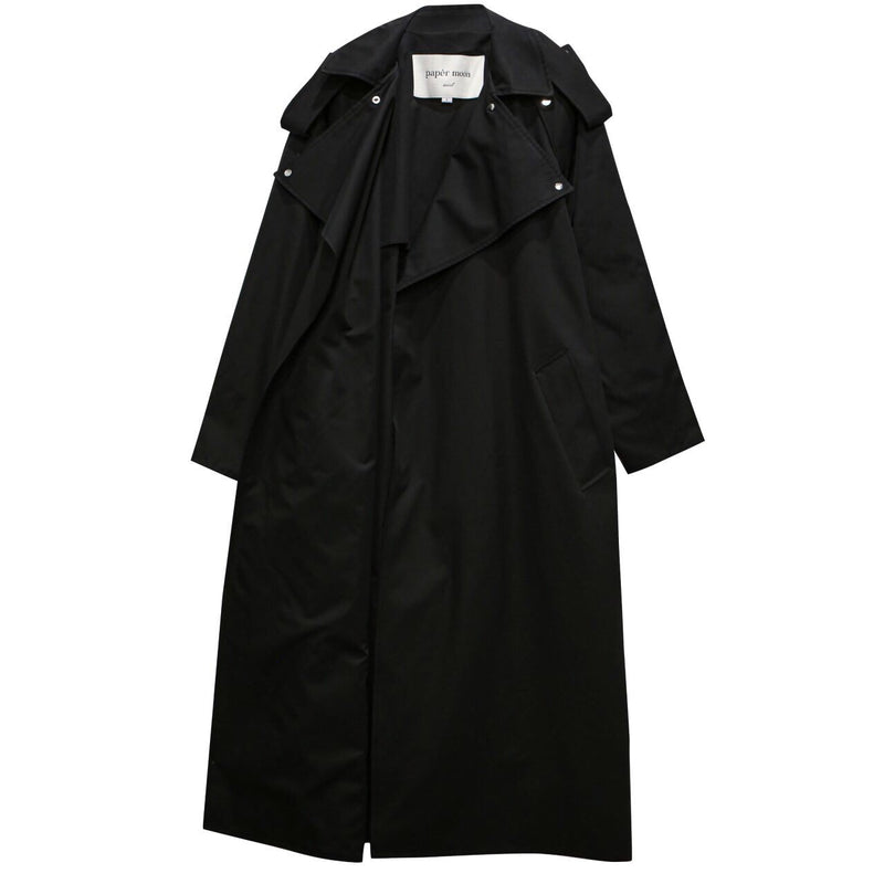 SNAP DETAIL OVERSIZED TRENCH COAT