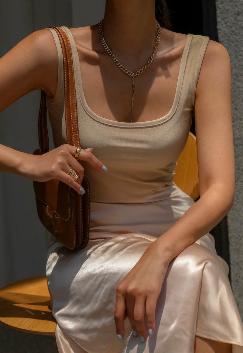 METALLIC SLEEVELESS TANK