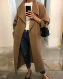 HANDMADE SHAWL COLLAR CASHMERE COAT