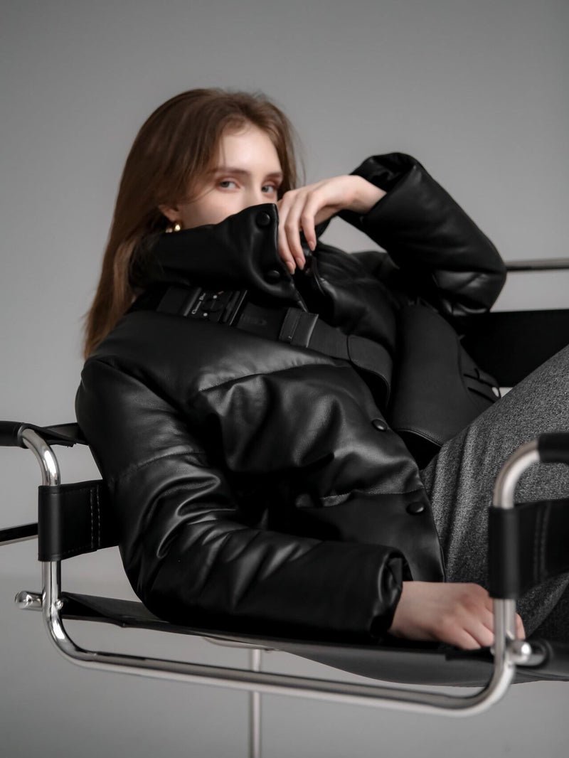 LUXE LEATHER PADDED JACKET