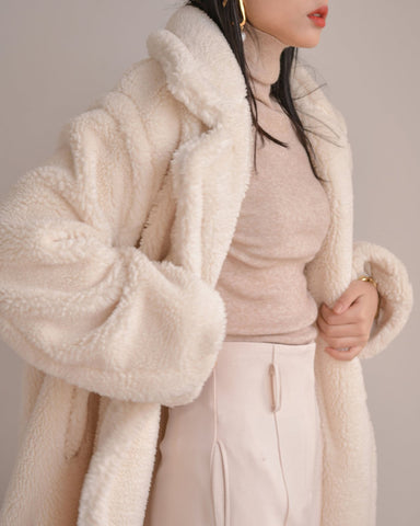 LUXE TEDDY FAUX FUR COAT