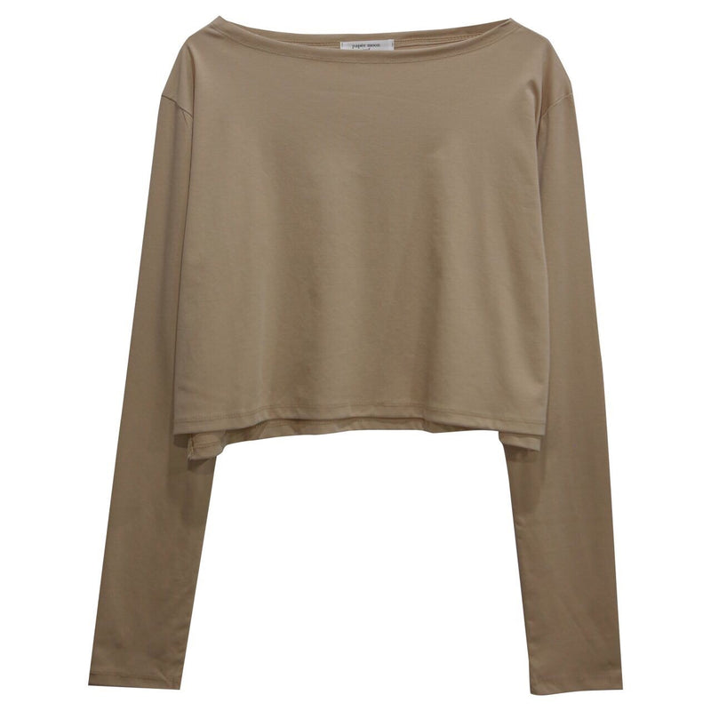 CROPPED LONG SLEEVE COTTON T-SHIRT