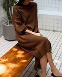 LOOSE KNIT DRESS - 5 COLORS