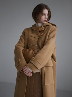 HANDMADE HOODED DUFFLE COAT