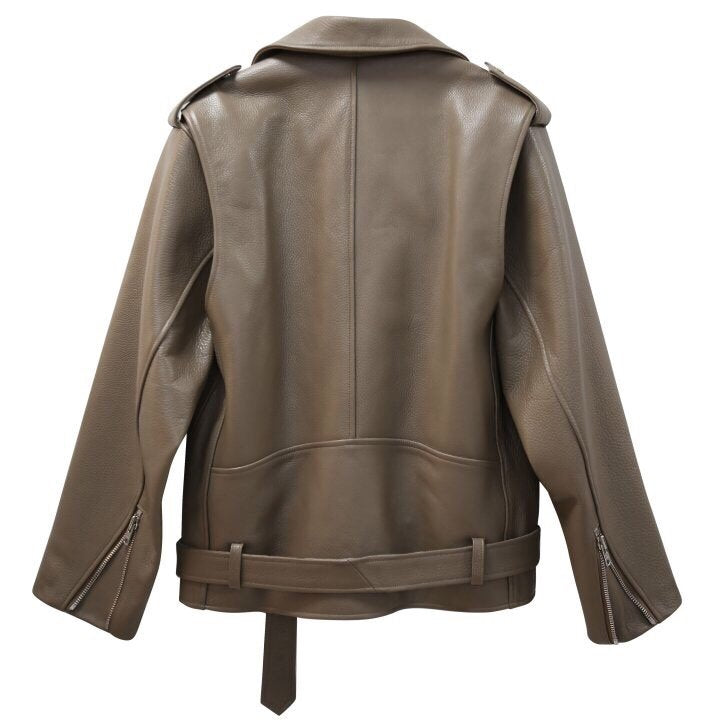 ULTIMATE LOOSE FIT LEATHER JACKET - 3 COLORS