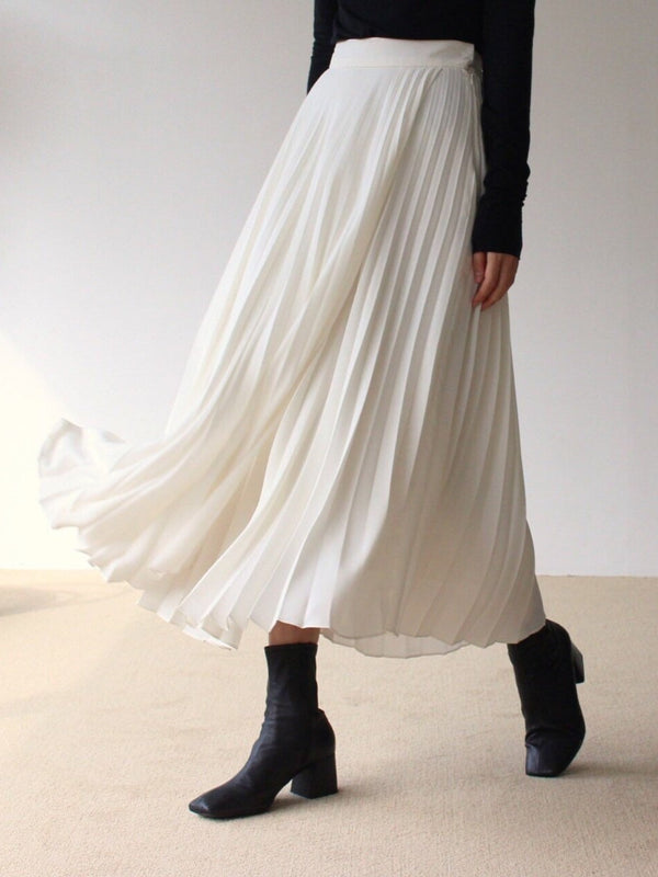 LUXE PLEATED MIDI SKIRT