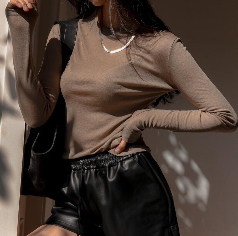 LONG SLEEVE WOOL TOP