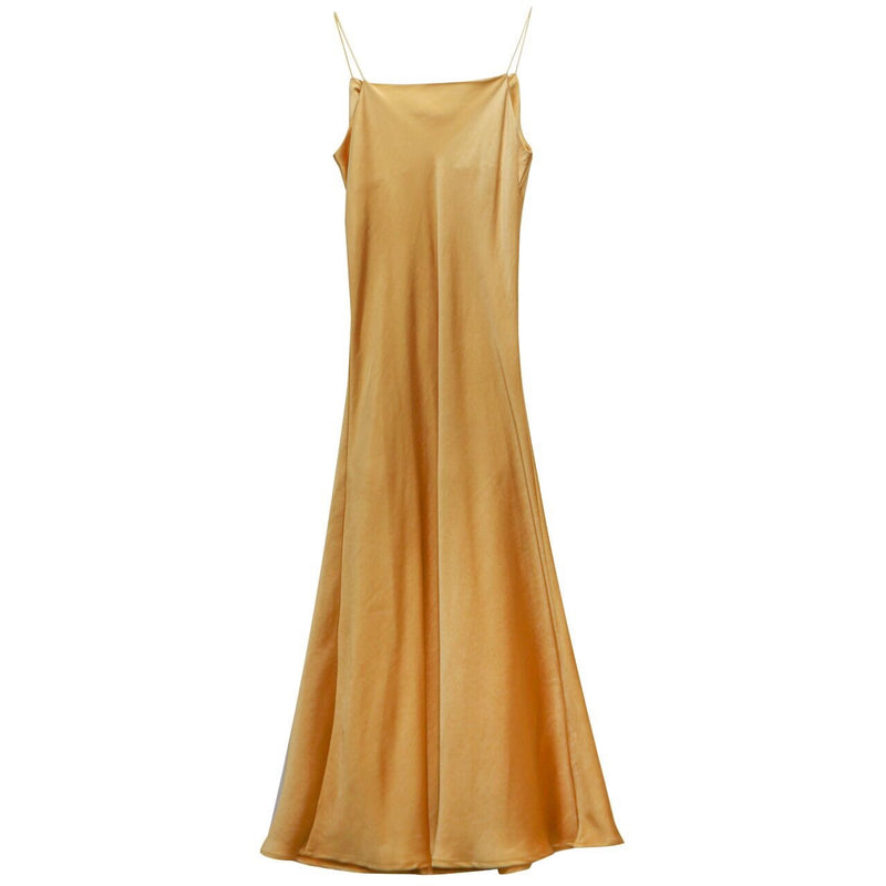 LUXE DRAPE SILK DRESS