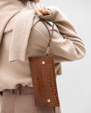 EMBOSSED LEATHER CLUTCH - 4 COLORS