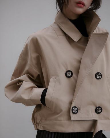 EYELET BUTTON TRENCH JACKET