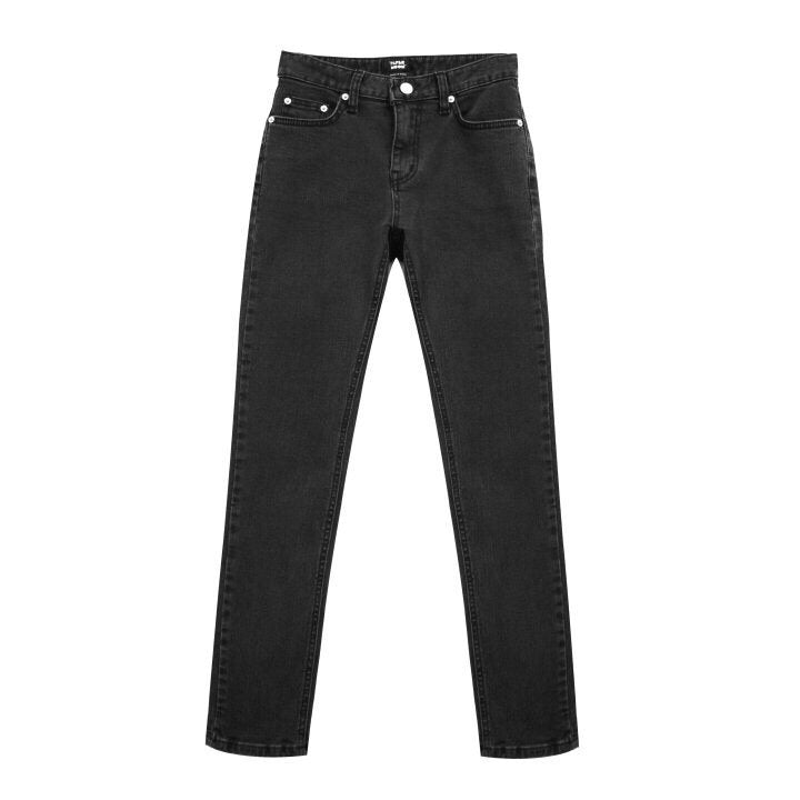 WASHED BLACK STRAIGHT SKINNY JEANS