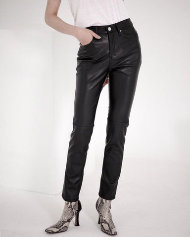 LEATHER SKINNY PANTS