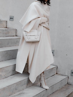 LUXE WOOL CAPE COAT