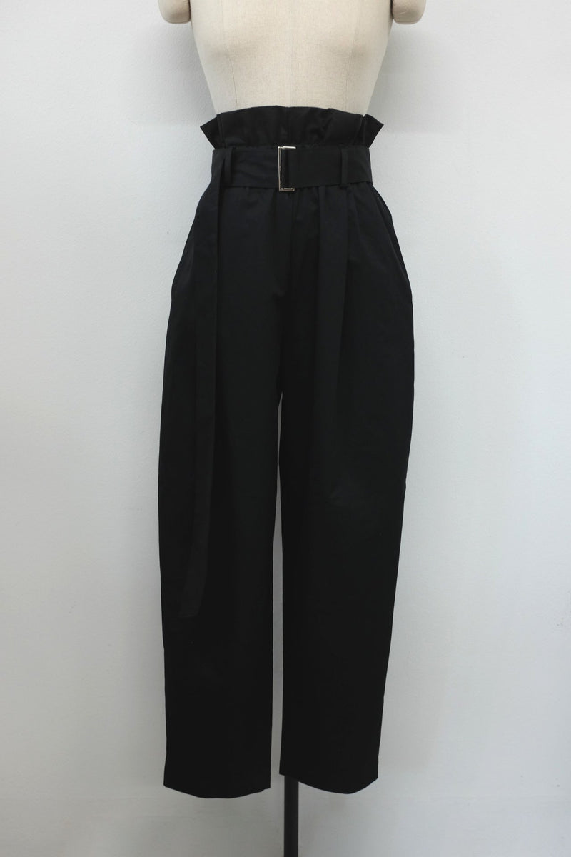RUFFLE BELTED TROUSERS