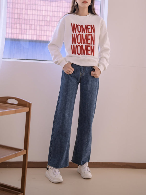PRINTED WOMEN SWEATSHIRT