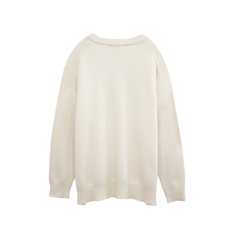 BABY CASHWOOL V-NECK KNIT
