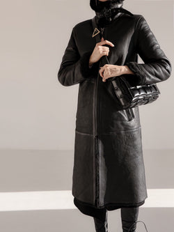 LUXE SHEARLING COAT