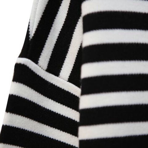 STRIPED BOAT NECK KNIT